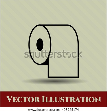 Toilet Paper vector symbol