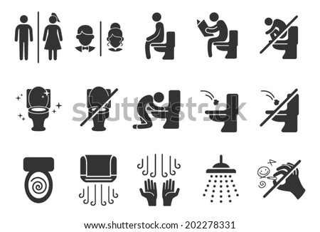 Toilet Public Sign Symbol Icon Pictogram