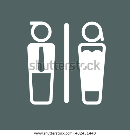 Toilet restroom and room sign concept - toilet sign men and women vector illustration modern design #482451448
