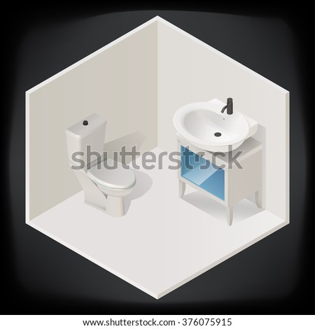 toilet room interior with