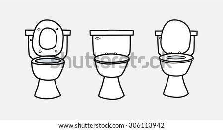 Toilet Seat Vector Cartoon Icon Sketch