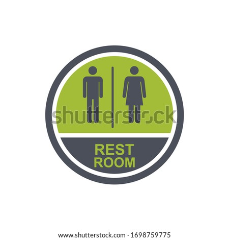 Toilet sign. male and fema...m. Vector illustration