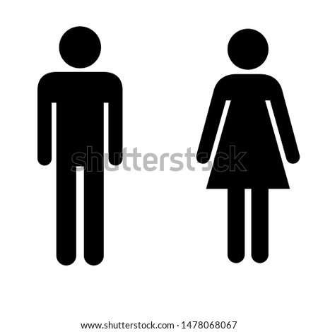 Toilet Sign Man And Women Design