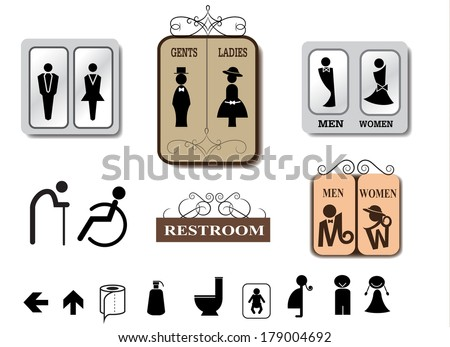 Bathroom Sign Vector Pleasing Toilet Sign Vectors  Download Free Vector Art Stock Graphics . Design Decoration