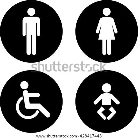 Bathroom Sign Vector Free Download toilet sign vectors - download free vector art, stock graphics