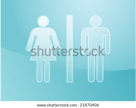 Toilet symbol illustration, classic design of man and woman