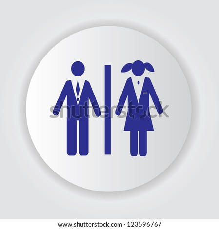 Toilet symbol,Vector #123596767