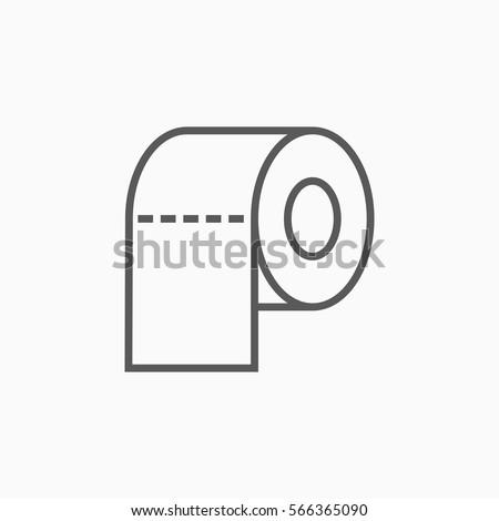 toilet tissue paper roll icon