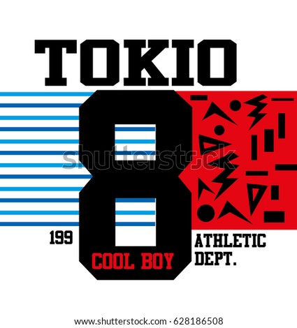 tokio cool boy t shirt print