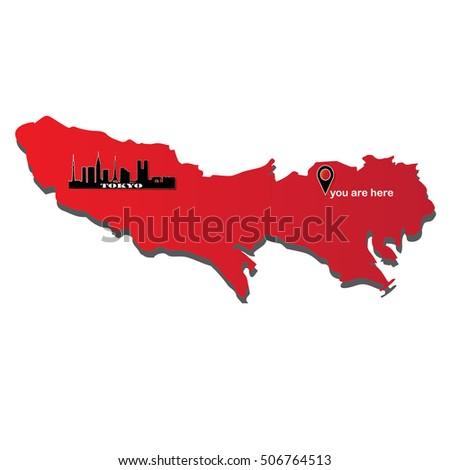 tokyo   capital of japan map