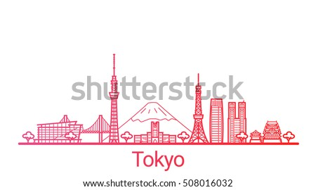 tokyo city colored gradient