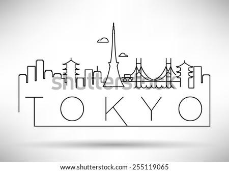 tokyo city line silhouette
