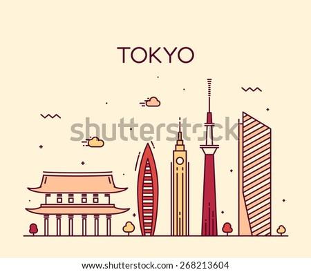 tokyo city skyline detailed