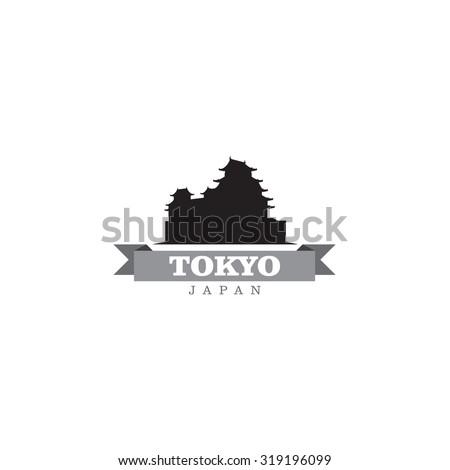 tokyo japan city symbol vector