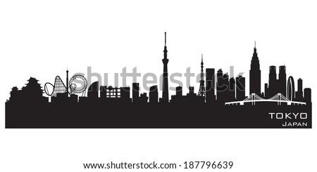 tokyo japan skyline detailed