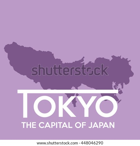 tokyo map silhouette 2