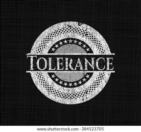 Tolerance chalk emblem written on a blackboard