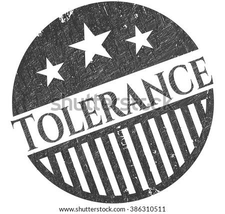 Tolerance emblem drawn in pencil
