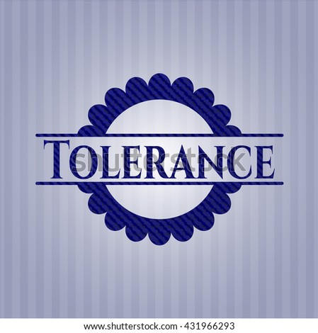 Tolerance emblem with denim texture
