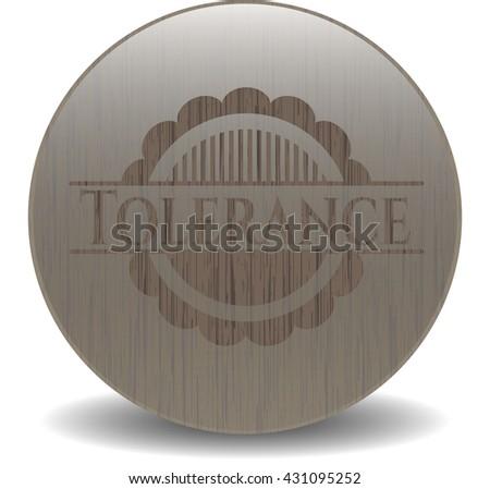 Tolerance wood emblem. Retro