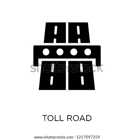 Toll road icon. Toll road symbol design from Maps and locations collection. Simple element vector illustration on white background.