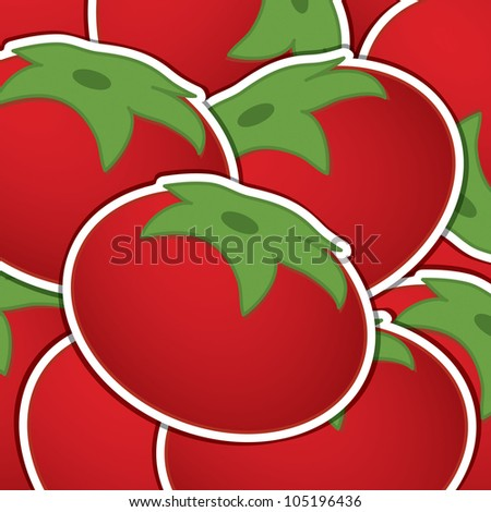 Tomato background/card in vector format.