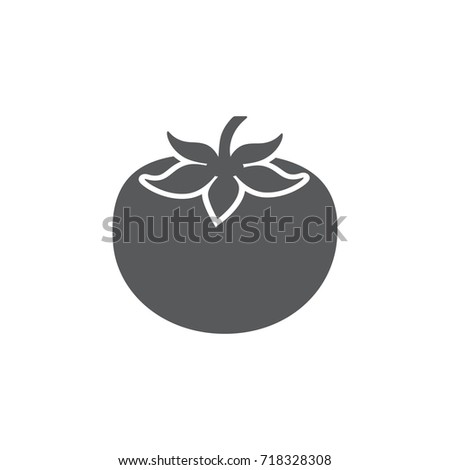 Tomato icon on the white background