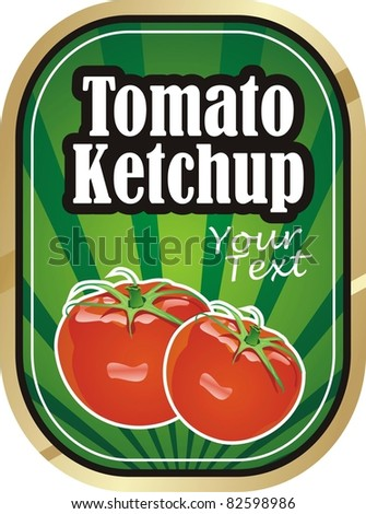 Tomato ketchup vector label