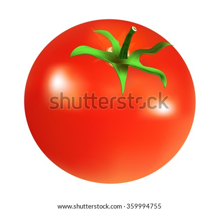 tomato with tail  isolated on