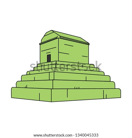 tomb of cyrus   vector