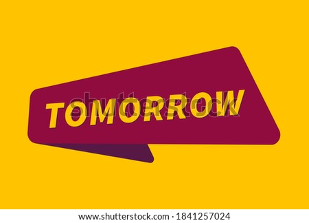 Tomorrow banner vector, Tomorrow image ストックフォト ©