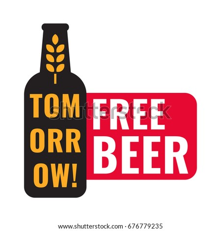 tomorrow free beer badge with