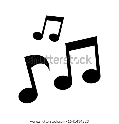 Tone music icon design. Note music icon in trendy flat style design. Vector illustration.