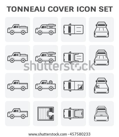 tonneau cover and pickup truck