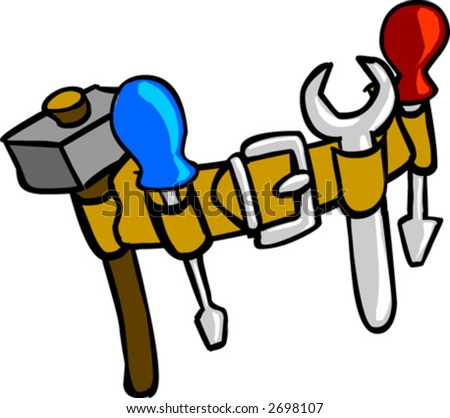 Tool Belt Coloring Page Tool Belt Clipart
