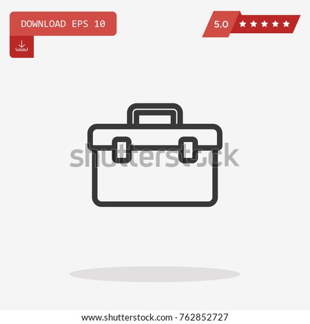 Tool box vector icon. Emblem isolated on white background. Modern simple icon style for graphic and web design, logo. EPS10