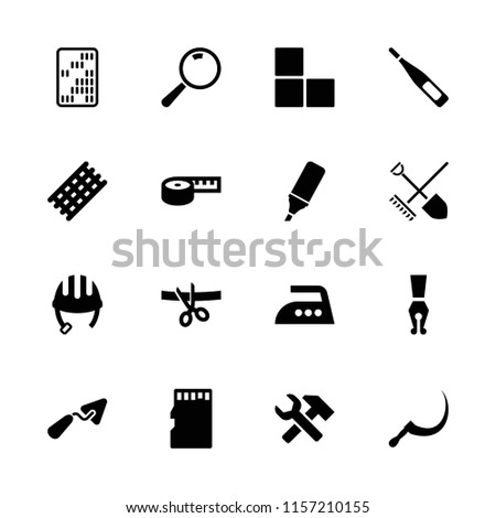 tool icon collection of 16
