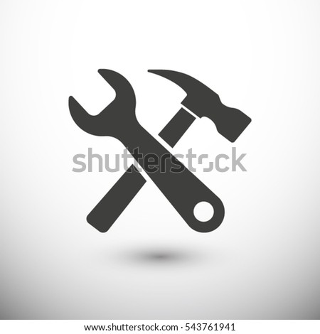 Tool  icon. One of set web icons
