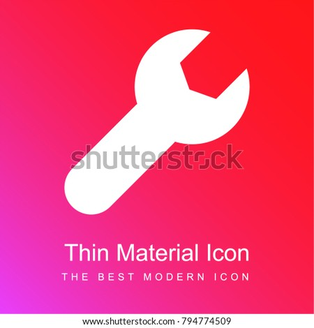 tool red and pink gradient material white icon minimal design