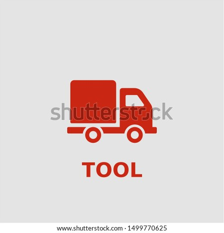 Tool symbol. Outline tool icon. Tool vector illustration for graphic art.