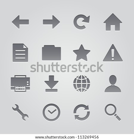 toolbar icons : deboss style