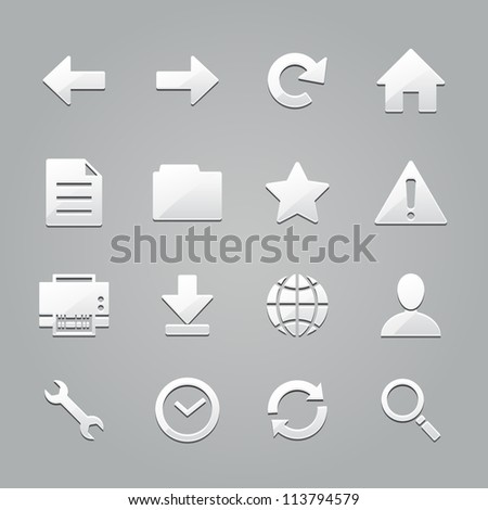 toolbar icons : emboss style