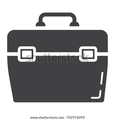 Toolbox glyph icon, build and repair, toolkit sign vector graphics, a solid pattern on a white background, eps 10.