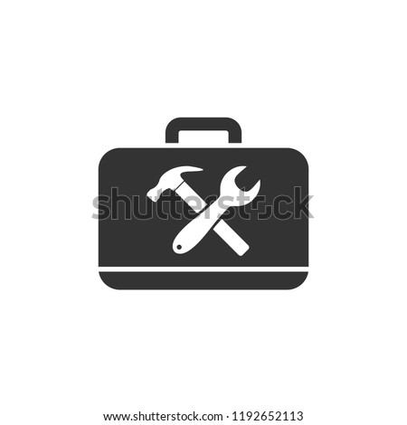 Toolbox icon flat