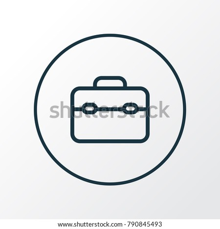 Toolbox icon line symbol. Premium quality isolated toolkit element in trendy style.