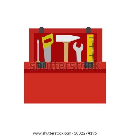 Toolbox icon. Vector illustration.