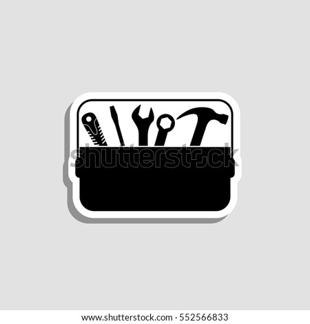 Toolbox  icon - vector  sticker