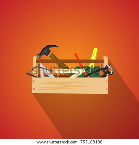 toolbox isolated flat