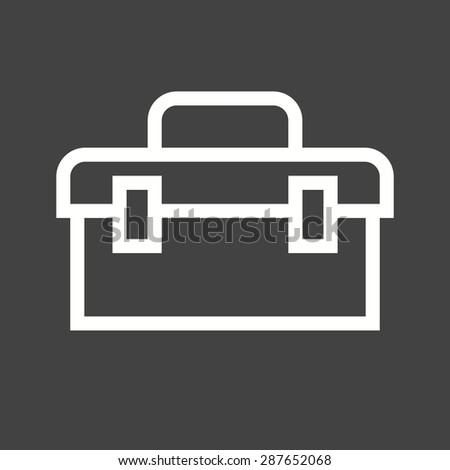Toolbox, kit, toolkit icon vector image. Can also be used for construction, interiors and building. Suitable for use on web apps, mobile apps and print media.