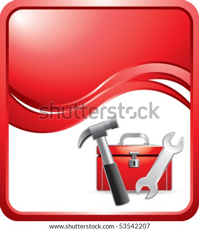 toolbox red wave background